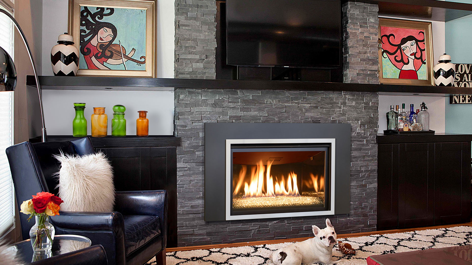 gas fireplace in denver